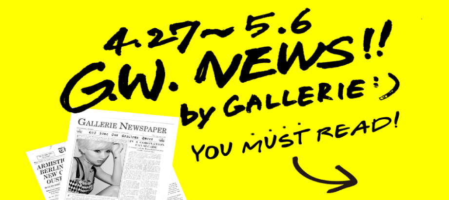 G.W. NEWS!! by GALLERIE;)